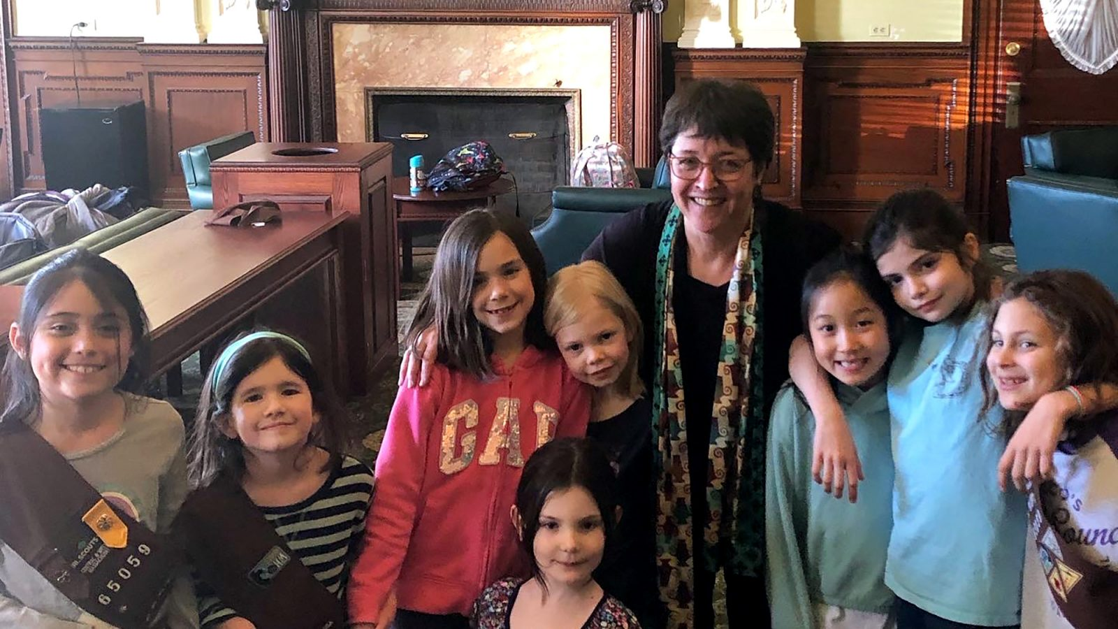 Rep. Domb with Girl Scout group